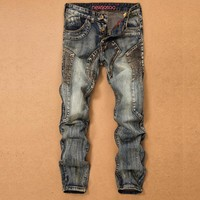 Winter Men Men's Fashion Slim Denim Jeans [264171814941]
