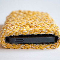 Iphone 5s sleeve, Crochet Iphone 5 case, Iphone 5s case, Crocheted Iphone 5 case with lining,phone wallet,iphone 5 cover,Christmas gift idea