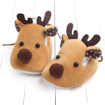 Little's Holiday Slippers- Reindeer