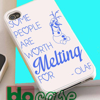 Disney Olaf Frozen Quotes For Iphone 4/4s, iPhone 5/5s, iPhone 5C, iphone 6, and iPhone 6 Plus Case