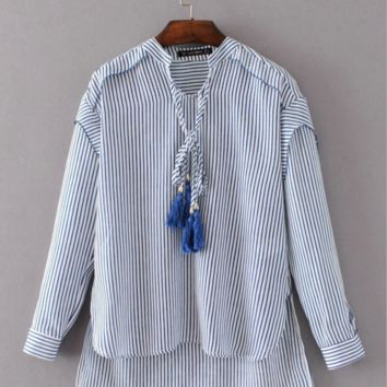 Causal  crossed striped shirt B0016431