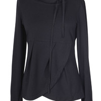 Cupshe Whispers In the Dark Pleated Sweatshirt
