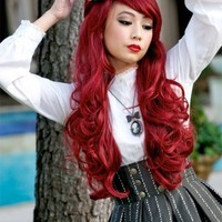 Countess Collection - ROUGE (Burgundy/Wine Red) - Gothic Lolita Wigs Store