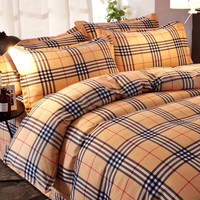 Burberry Duvet cover Blanket Quilt coverlet Pillow shams 4 PC Bedding SET