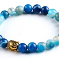 Natural Stone Boho Bracelet, Multiple Colors