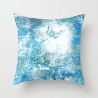 Fly with me Throw Pillow by SensualPatterns