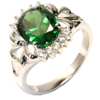 Emerald (Green) Classic Promise Ring - Beautiful Promise Rings