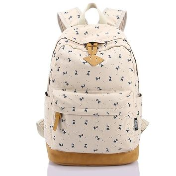 School Backpack Fashion Pink Preppy s for Teenage Girls Mochila Escolar Nubuck Leather Canvas Printing Backpack School Bags AT_48_3