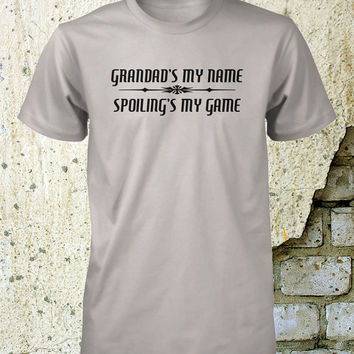 Grandad Shirt Spoilings My Game Grandpa Tee Worlds Best Grandfather Tshirt Opa Grandparent Grand Dad Small Medium Large Xlarge 2XL 3XL 4XL