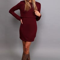 Just The Two Of Us Dress {Maroon}