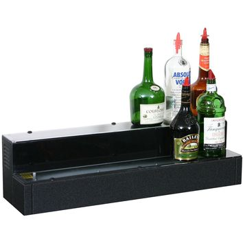 """Glastender 2 Tier Lighted Liquor Display 24"""" with Cord on Right"""