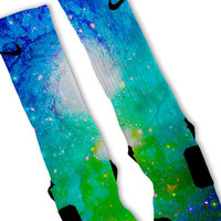 Cosmic GALAXY Custom Nike Elite Socks!!