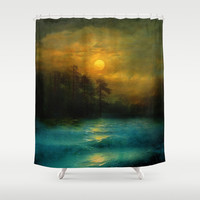 Hope, in the turquoise water. Shower Curtain by Viviana Gonzalez