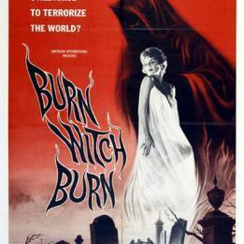 Burn Witch Burn movie poster Sign 8in x 12in