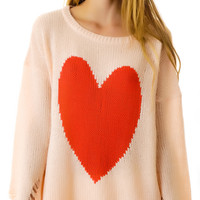 Wildfox Couture Big Heart Lennon Sweater Baby