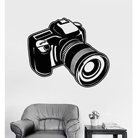 Vinyl Wall Decal Camera Photo Art Photography Room Decor Stickers Unique Gift (ig3208)