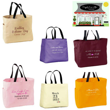 Destination Wedding Welcome Bags Custom Embroidery