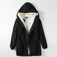 Women Winter Warm Jacket Coat Overcoat Fur Collar Down Parkas