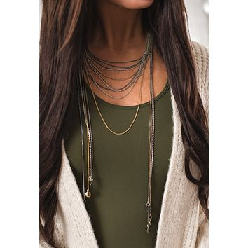 Wilmot Layered Chain Charm Necklace (Multi)