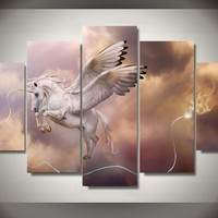 Myth Reverie Animal Unicorn Painting Wall Art
