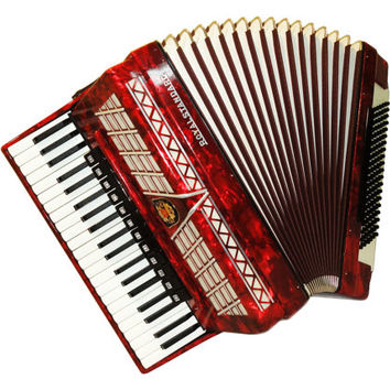 German Royal Standard, 120 Bass, 16 Registers, Case, Piano Accordion Instrument, 518