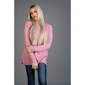 Always You Long Sleeve Sweater in PINK