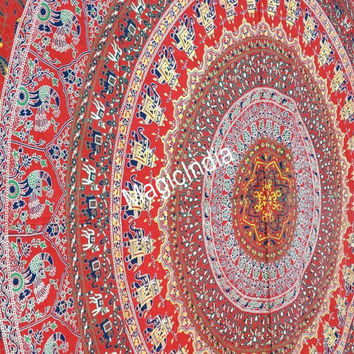 Mandala Curtain, Indian Mandala Wall Hanging, Queen Ethnic Wall Tapestries, Bohemian Mandala Tapestry Throw Bed sheet, Hippie Wall Hanging