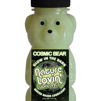 Nature Lovin Cosmic Bear Glow In The Dark Water Based Lubricant 6 Oz