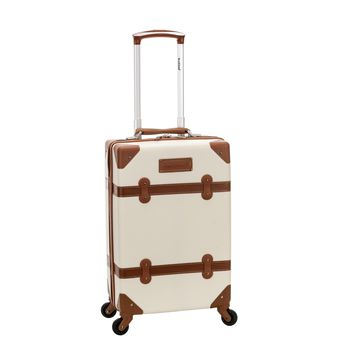 Rockland 20-inch Vintage Trunk Carry On Spinner Upright Luggage | Overstock.com Shopping - The Best Deals on Carry On Upright Luggage