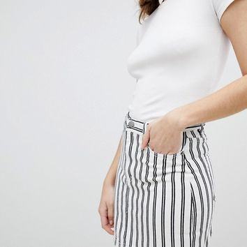 Monki Striped Mini Skirt at asos.com