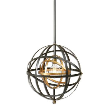 Rondure 1 Light Sphere Pendant By Uttermost