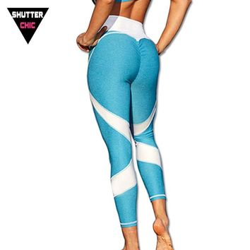 Shutterchic Push Up Hips Running Tights Women Yoga Pant Sports Leggings Winter Heart Peach Leggins 2017 High Quality Activewear