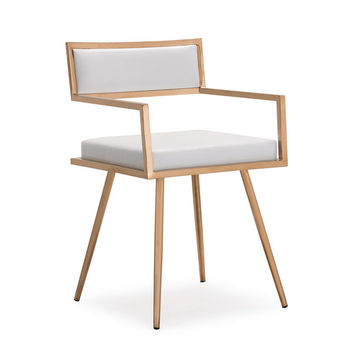 Marquee Mid Century Modern White Accent Chair (Set of 2) | Overstock.com Shopping - The Best Deals on Living Room Chairs