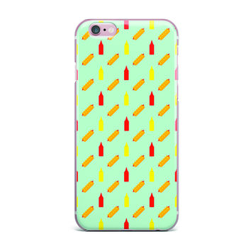 "Will Wild ""Hot Dog Pattern II"" Food iPhone Case"