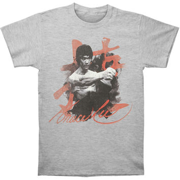Bruce Lee Men's  Wha-Taa T-shirt Heather