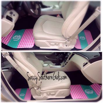 Monogrammed Car Mats, Personalized Car Mats, Design Your Own Car Mats, Monogrammed Car Gifts, Monogrammed Gift, Monogrammed Car Accessories