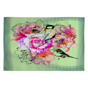 Bel Lefosse Design Birds And Flowers Woven Rug