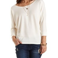 French Terry Dolman Sleeve Tee by Charlotte Russe