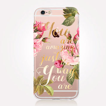 Transparent Quote Phone Case - Transparent Case - Clear Case - Transparent iPhone 6 - Transparent iPhone 5 - Transparent iPhone 4