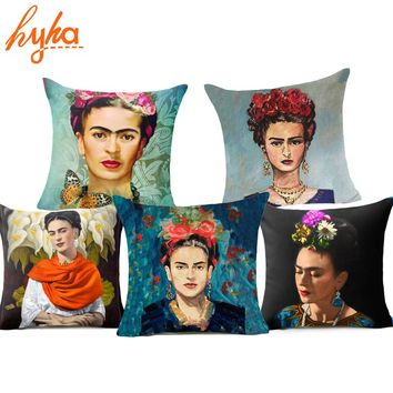 Frida Kahlo Self Portrait Polyester Cushion Cover