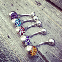 Leopard Print Belly Rings