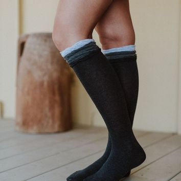 Ruffle Trim Boot Socks Set Of 3