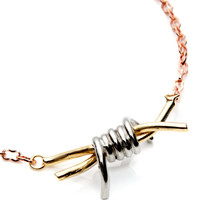 Tri-Tone Barbed Wire Necklace by Rodarte - Moda Operandi