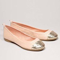 AEO Glitter Cap-Toe Ballet Flat | American Eagle Outfitters