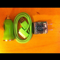 iPhone charger Harry Potter slytherin set by GJGdesigns on Etsy