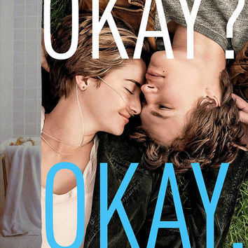 """the fault in our stars okay okay Custom Shower Curtain available size 66"""" x 72"""", 60"""" x 72"""",48"""" x 72"""""""