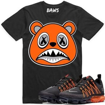 ORANGE BAWS Black Sneaker Tees Shirt - Nike Air VaporMax Utility Orange