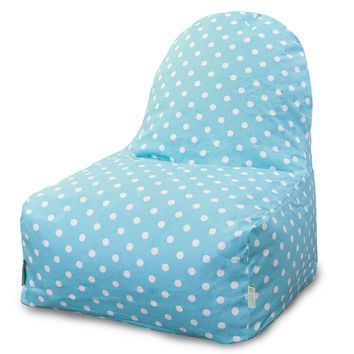 Aquamarine Small Polka Dot Kick-It Chair