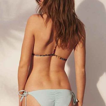 Out From Under Solid Side-Tie Ruched Bikini Bottom