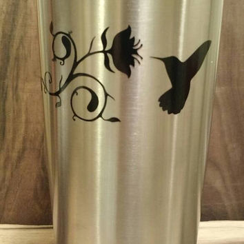Hummingbird, Vinyl decal stickers, vinyl decal for tumbler, vinyl decal for yeti, vinyl decal car, vinyl decal custom, vinyl decal wall